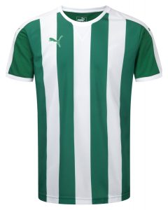 Puma Striped S/S Shirt-Green/White