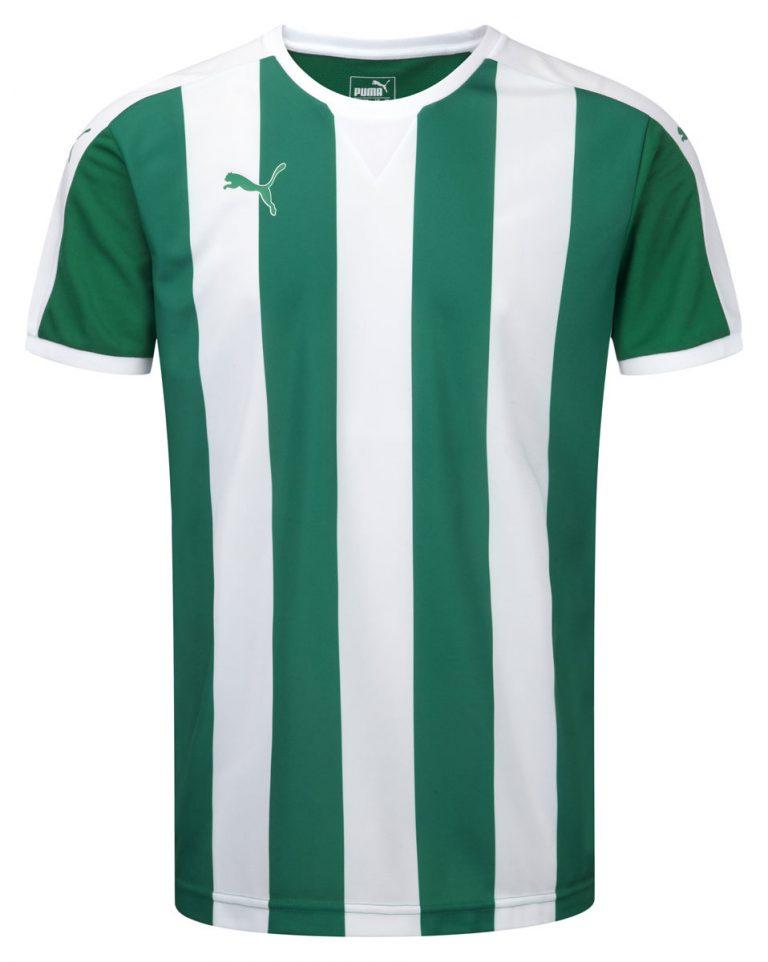 Puma Striped S/S Shirt-Green/White 1