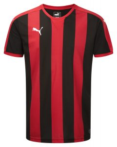 Puma Striped S/S Shirt-Red/Black