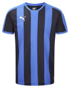 Puma Striped S/S Shirt-Royal/Black