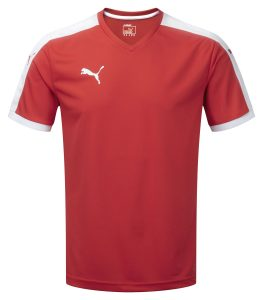 Puma Pitch S/S Shirt-Red/White