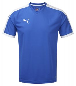 Puma Pitch S/S Shirt-Royal/White