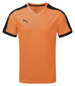 Puma Pitch S/S Shirt-Orange/Black