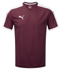Puma Pitch S/S Shirt-Burgundy/White