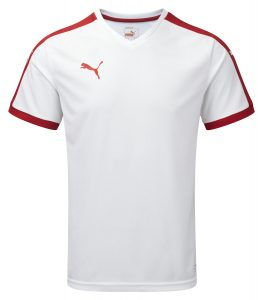 Puma Pitch S/S Shirt-White/Red