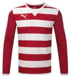 Puma Hoop L/S Shirt-Red/White