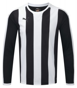 Puma Striped L/S Shirt-Black/White