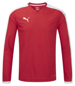 Puma Pitch L/S Shirt-Red/White