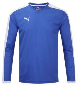 Puma Pitch L/S Shirt-Royal/White