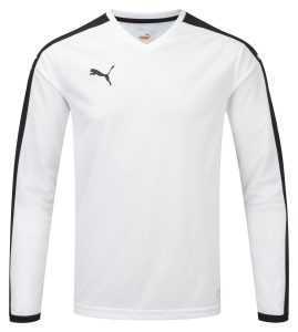 Puma Pitch L/S Shirt-White/Black
