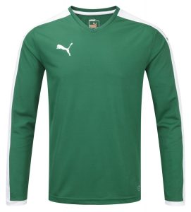 Puma Pitch L/S Shirt-Green/White