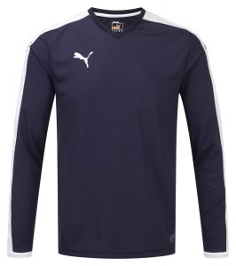 Puma Pitch L/S Shirt-Navy/White