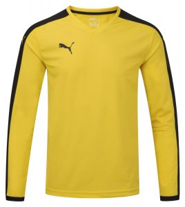 Puma Pitch L/S Shirt-Yellow/Black