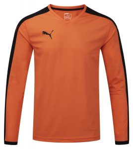 Puma Pitch L/S Shirt-Orange/Black