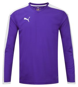 Puma Pitch L/S Shirt-Purple/White