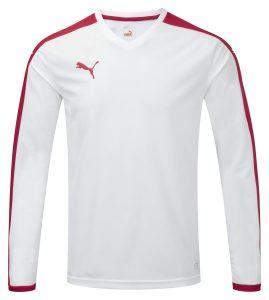 Puma Pitch L/S Shirt-White/Red