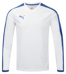 Puma Pitch L/S Shirt-White/Royal