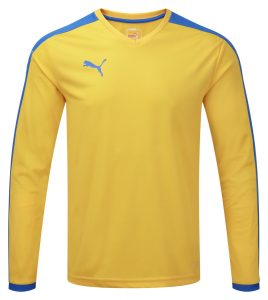 Puma Pitch L/S Shirt-Yellow/Royal