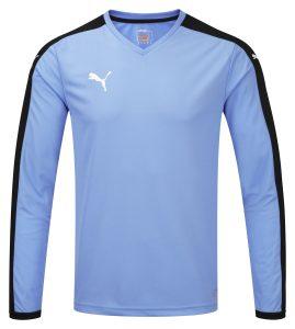 Puma Pitch L/S Shirt-Pearl Blue/Black