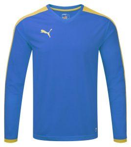 Puma Pitch L/S Shirt-Royal/Yellow