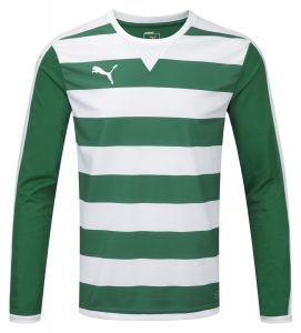 Puma Hoop L/S Shirt-White/Green