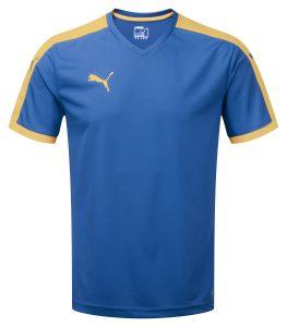 Puma Pitch S/S Shirt-Royal/Yellow
