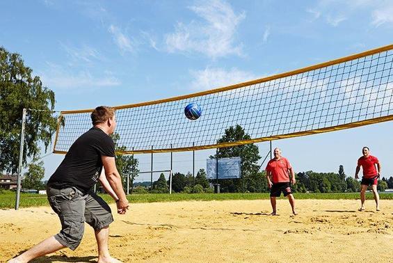 Campingplatz seepark ternsche beach volleyball