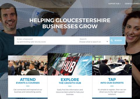 The Growth Hub website homepage