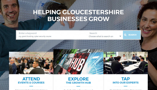 The Growth Hub website homepage