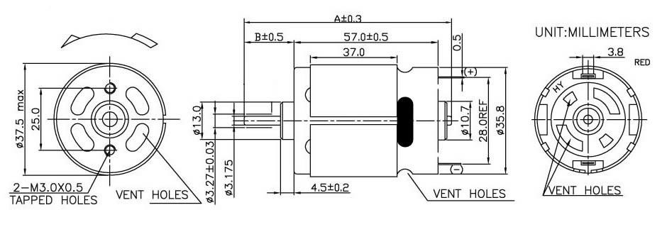 rc motor sizes chart