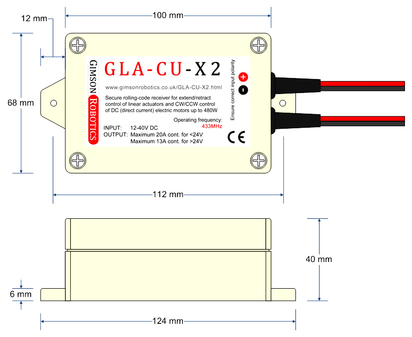 remote control unit for actuators electric motors 12v 24v 36v dc garage door ebay. Black Bedroom Furniture Sets. Home Design Ideas