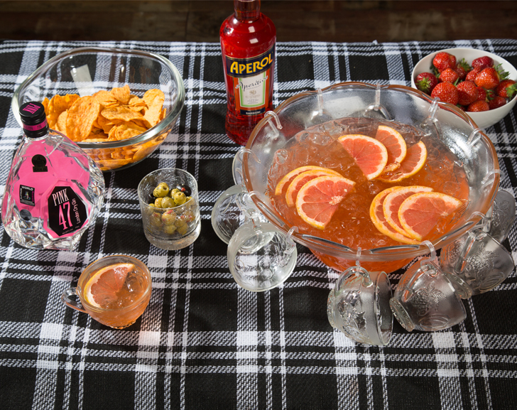 Pink Aperol Punch
