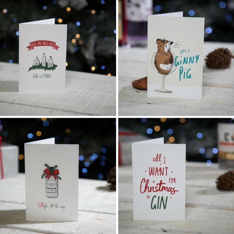 Gin Christmas Cards