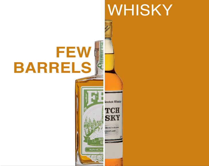 Whisky and Few Barrels Gin