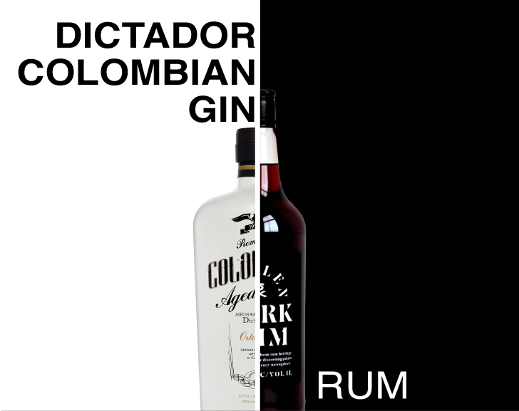 Rum and Dictador Colombian Gin