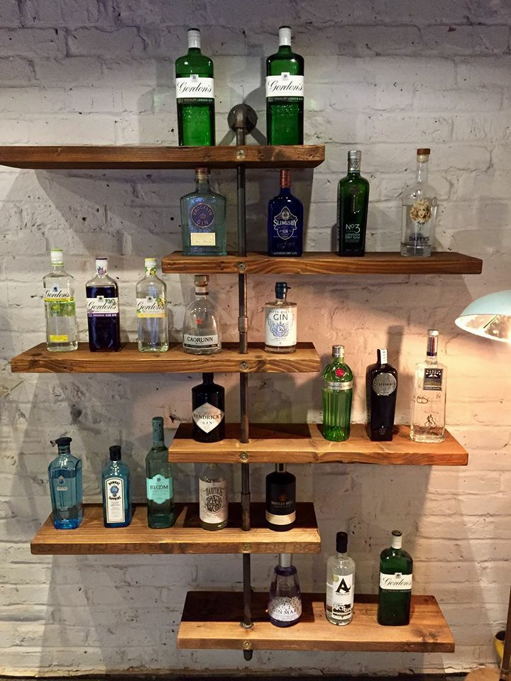 shelfie shelves and gin