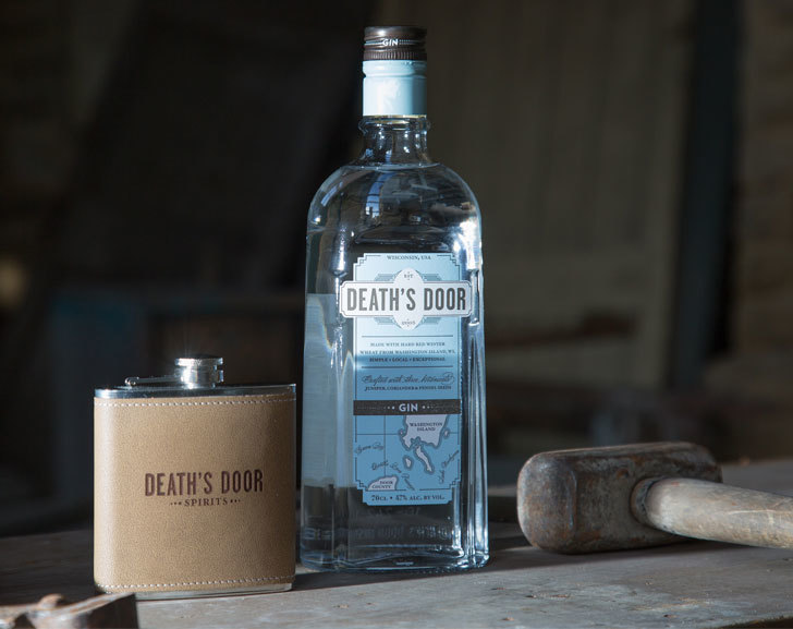 Death's Door Gin with Hip Flask