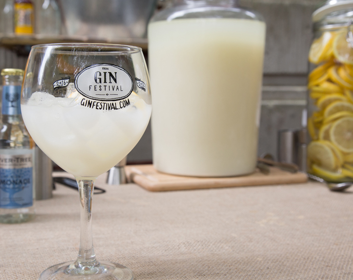 Old Fashioned Milk Punch in a Gin Glass