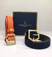 fairfax and favor suede leather belts and Hicks and Hides leather belts for women