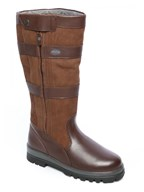 selection of leather boots by dubarry of ireland, fully waterproof with gore tex lined.