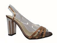 Azuree 'Mapoli' Sparkly Slingback Sandal