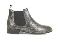 Lisa Kay Lori Pewter Leather Chelsea Boot