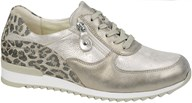 Waldlaufer Gold & Leopard Print Trainer