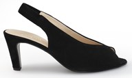 Gabor 'Eternity' Black Suede Sling Back