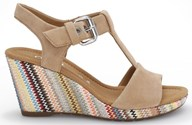 Gabor 'Karen' Lovely In Beige With a Great Matching Striped Heel