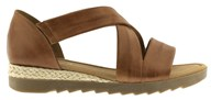 Gabor 'Promise' Tan Leather Strappy Sandal