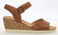 Gabor 'Nieve' Tan Leather Wedge Sandal