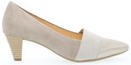 Gabor ' Folky' Champagne Suede Court Shoe