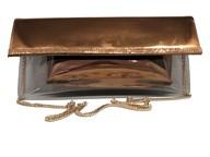Azuree Bronze Clutch/shoulder Handbag