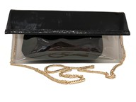 Azuree Clutch Handbag with detachable gold chain